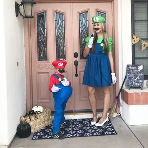 Halloween costumes (mother and son!)